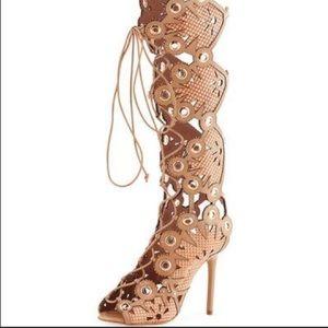 NEW Ivy Kirzhner Cannes Tall caramel 11 sandal